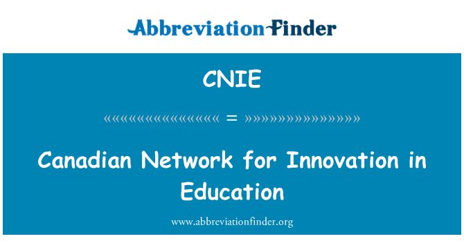 CNIE: Canadian Network for Innovation in Education