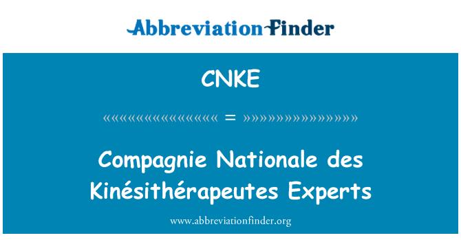 CNKE: Compagnie Nationale des Kinésithérapeutes Experts