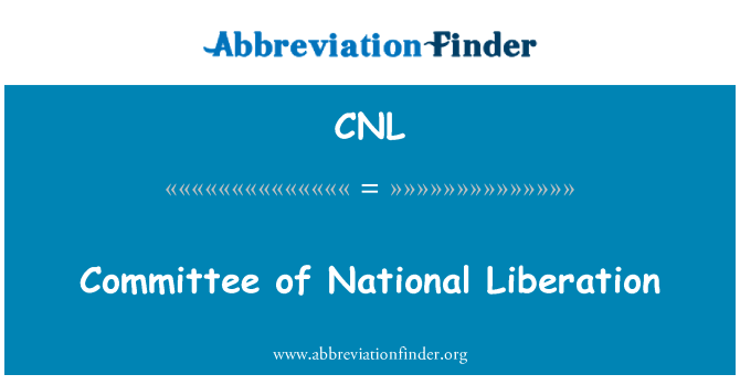 CNL: Committee of National Liberation