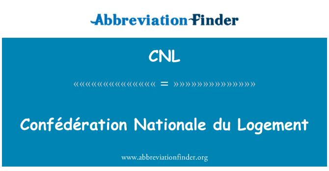 CNL: Confédération Nationale du Logement