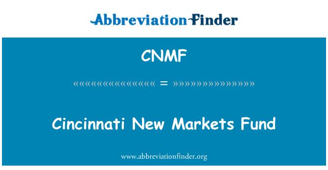 CNMF: Cincinnati New Markets Fund