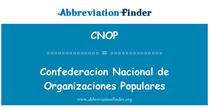 CNOP: Confederacion Nacional de Organizaciones Populares