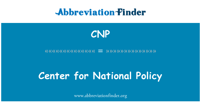 CNP: Center for National Policy