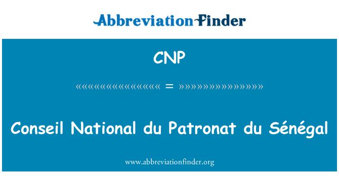 CNP: Conseil National du Patronat du Sénégal