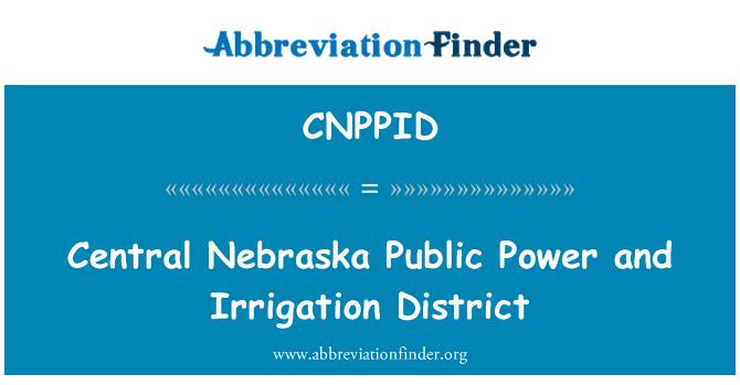 CNPPID: مرکزی نیبراسکا عوامی طاقت اور آب پاشی کے ضلع