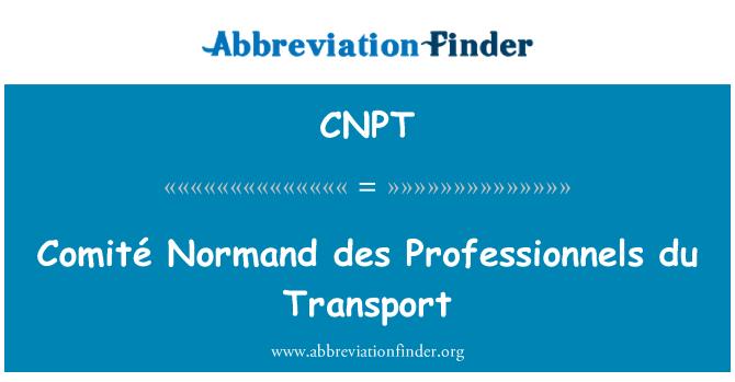 CNPT: Comité Normand des Professionnels du Transport