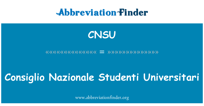 CNSU: Consiglio Nazionale Studenti Universitari