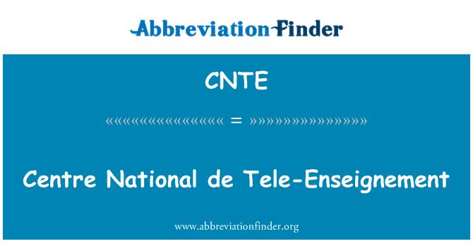 CNTE: Centre National de Tele-Enseignement