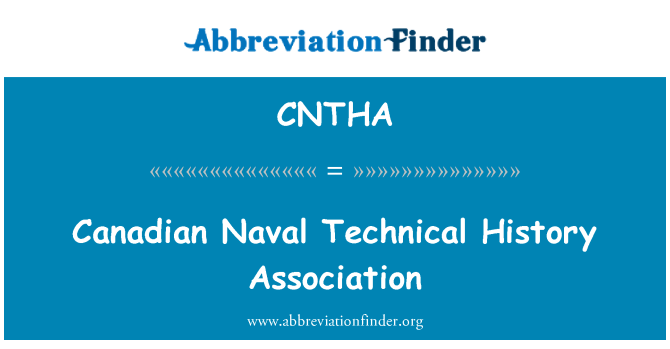 CNTHA: Canadian Naval Technical History Association