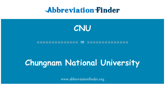 CNU: Chungnam National University