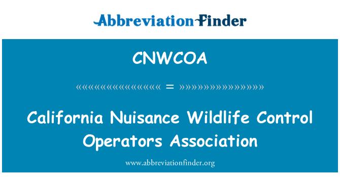 CNWCOA: California Nuisance Wildlife Control Operators Association