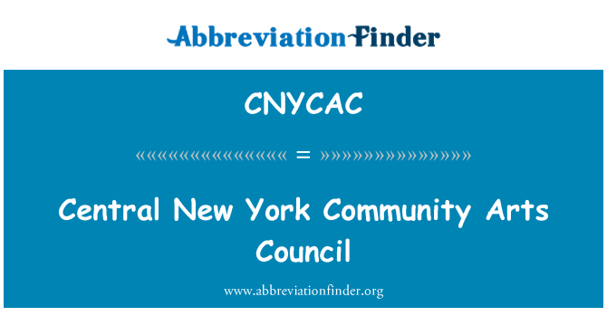 CNYCAC: Central New York Community Arts Council