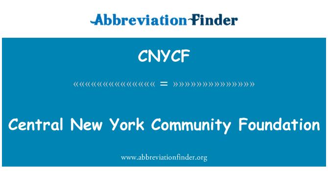CNYCF: Central New York Community Foundation