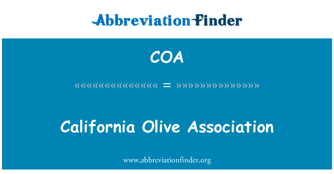 COA: California Olive Association