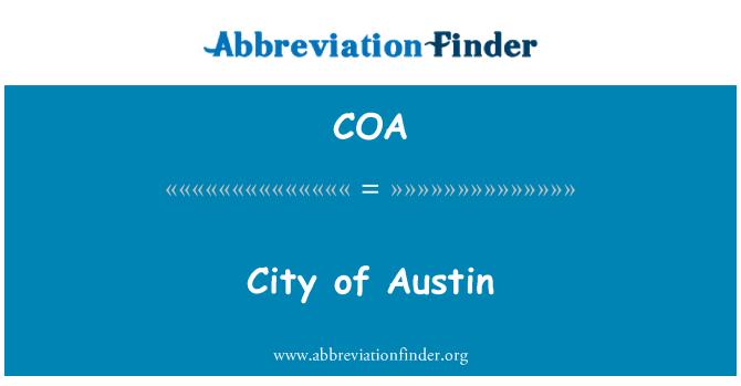 COA: City of Austin