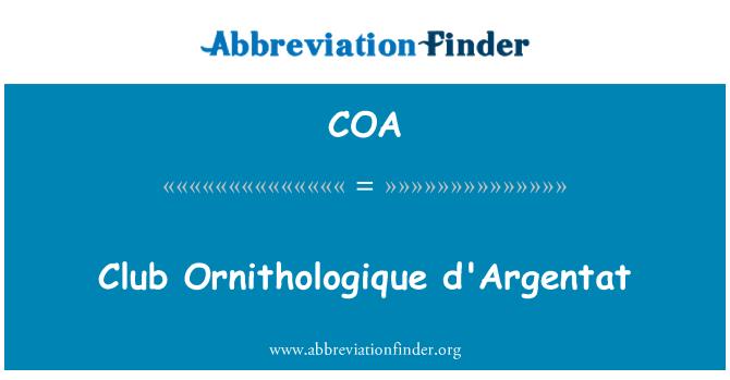 COA: Club Ornithologique d'Argentat