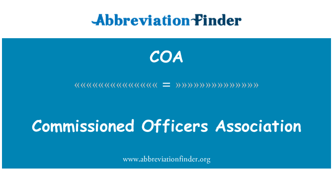 COA: Commissioned Officers Association