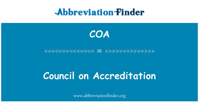 COA: Council on Accreditation