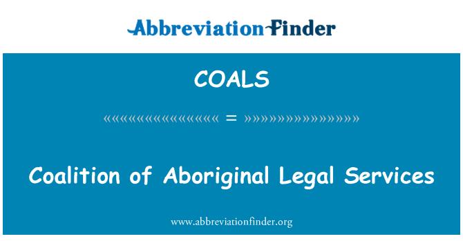 COALS: Coalition of Aboriginal Legal Services