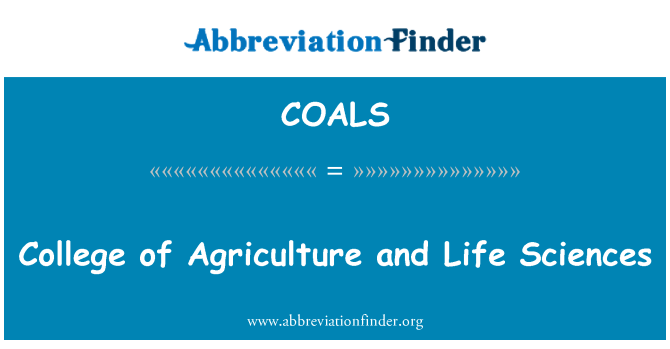 COALS: College of Agriculture and Life Sciences