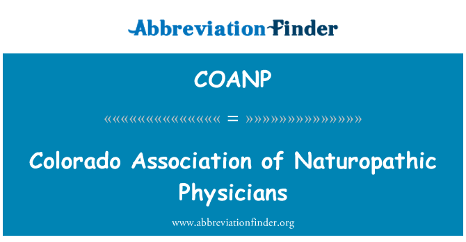 COANP: Colorado Association of Naturopathic Physicians