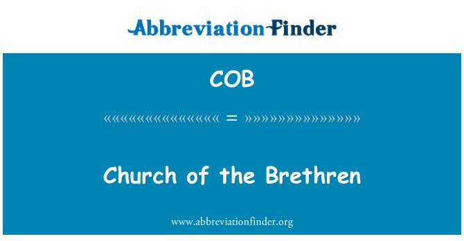 COB: Church of the Brethren