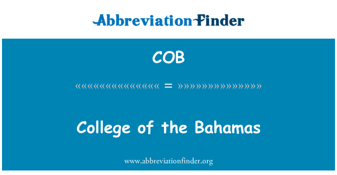 COB: College of the Bahamas