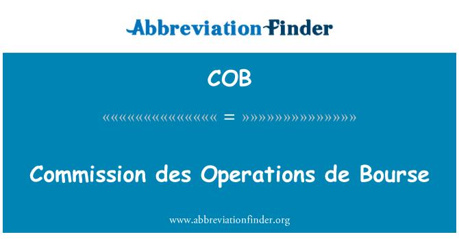 COB: Commission des Operations de Bourse