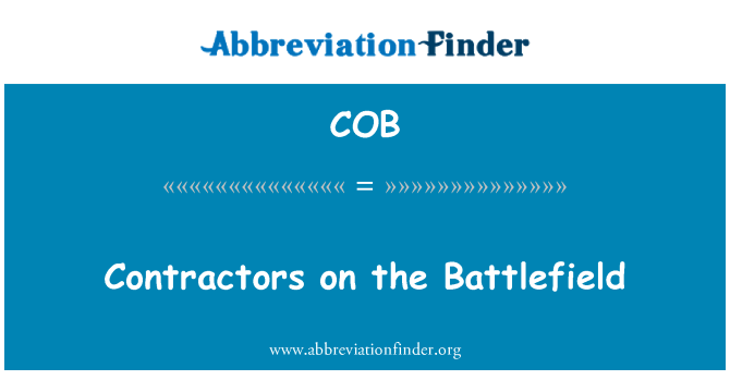 COB: Contractors on the Battlefield