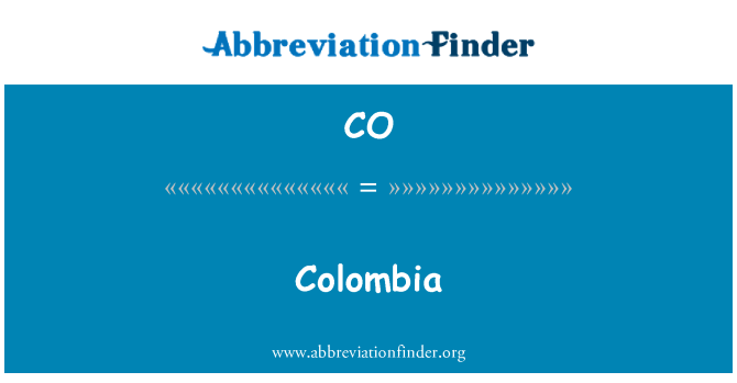 CO: Colombia