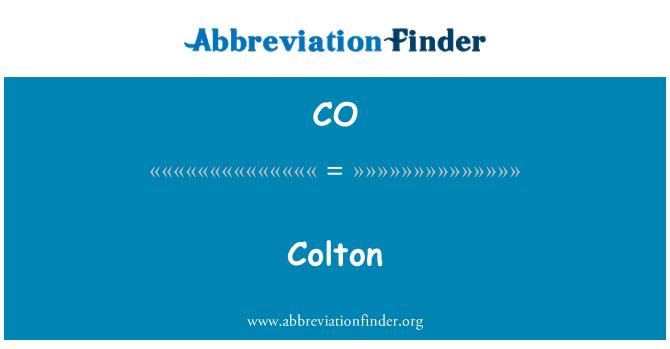 CO: Colton
