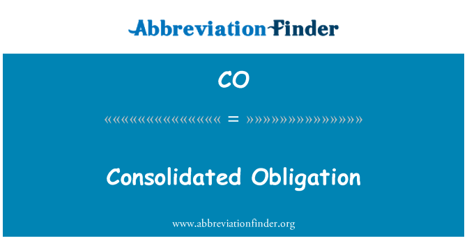 CO: Consolidated Obligation