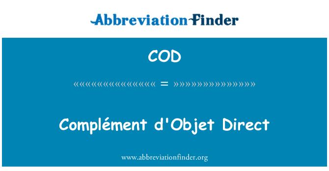 COD: Complément d'Objet Direct