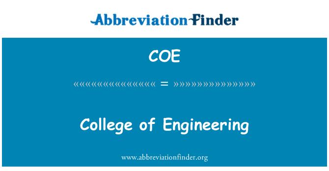 COE: College of Engineering