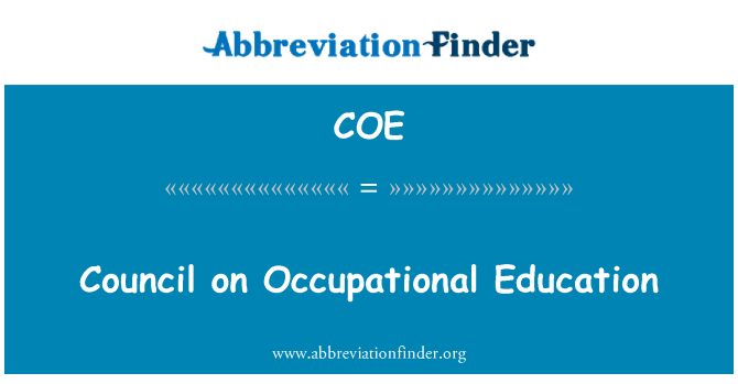 COE: Council on Occupational Education