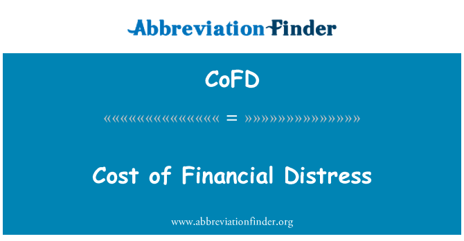 CoFD: Cost of Financial Distress