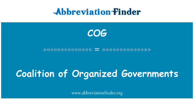 COG: Coalition of Organized Governments