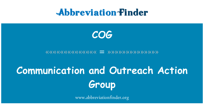 COG: Communication and Outreach Action Group