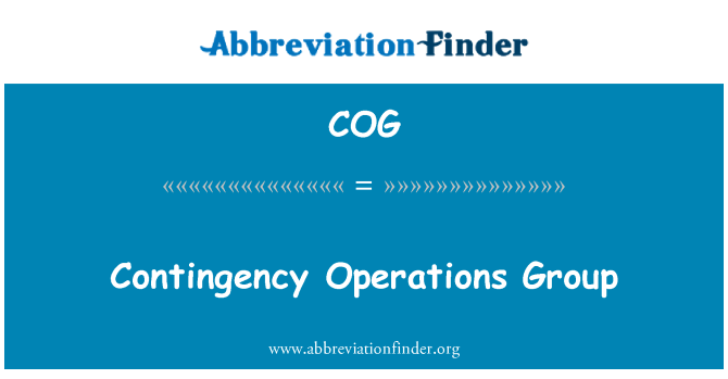 COG: Contingency Operations Group