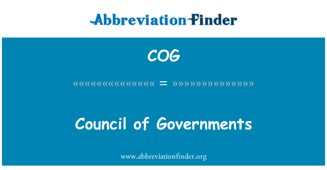 COG: Council of Governments