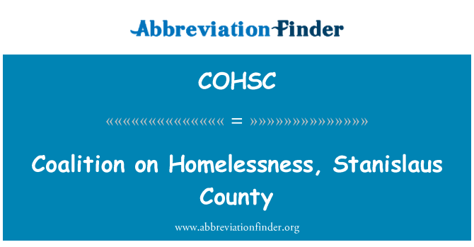 COHSC: Coalition on Homelessness, Stanislaus County