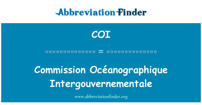 COI: Commission Océanographique Intergouvernementale