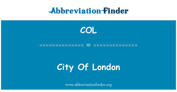 COL: City Of London