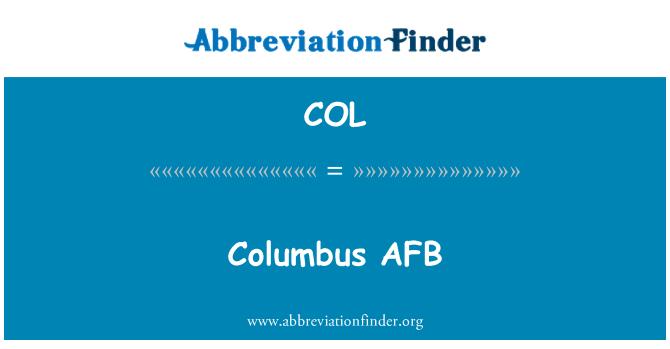 COL: Columbus AFB