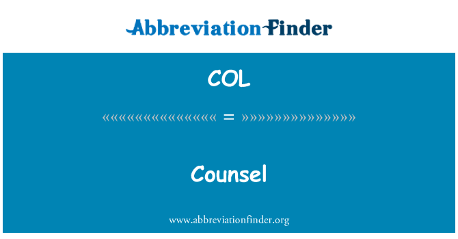 COL: Counsel