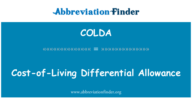 COLDA: Cost-of-Living Differential Allowance