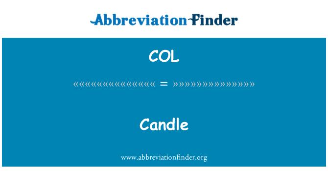 COL: 蜡烛