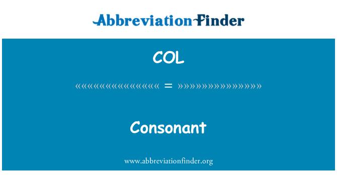 COL: Konsonan