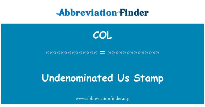 COL: Undenominated 我们邮票