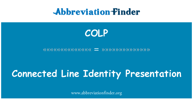 COLP: Connected Line Identity Presentation